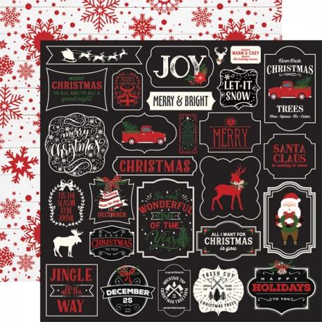 """Echo Park - Carta 12x12"""" - A Lumberjack Christmas 02"""