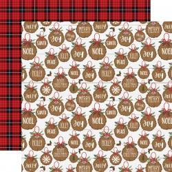 """Echo Park - Carta 12x12"""" - A Lumberjack Christmas 03"""