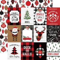 """Echo Park - Carta 12x12"""" - A Lumberjack Christmas 05"""