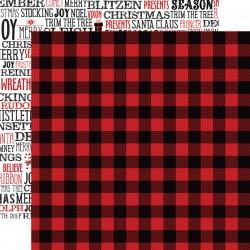 """Echo Park - Carta 12x12"""" - A Lumberjack Christmas 06"""