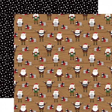"""Echo Park - Carta 12x12"""" - A Lumberjack Christmas 07"""
