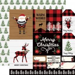 """Echo Park - Carta 12x12"""" - A Lumberjack Christmas 08"""
