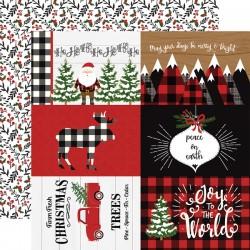 """Echo Park - Carta 12x12"""" - A Lumberjack Christmas 13"""