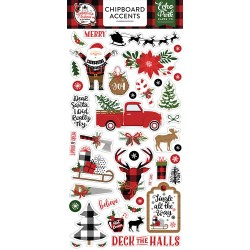 Echo Park - Chipboard Accents - Lumberjack Christmas
