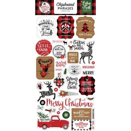 Echo park - Chipboard Phrases - Lumberjack Christmas