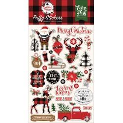Echo Park - Puffy Stickers - Lumberjack Christmas