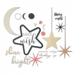 Sizzix - Fustella Framelits - Set 9PK w/Stamps - Make a Wish