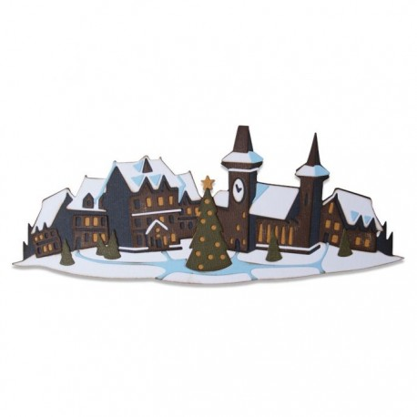 Sizzix - Fustella Thinlits - Holiday Village Colorize by Tim Holtz