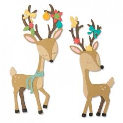 Sizzix - Fustella Thinlits - Christmas Deer by Jen Long
