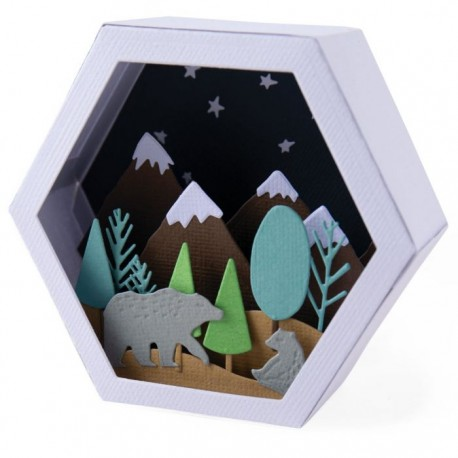 Sizzix - Fustella Thinlits - Box Winter Scene