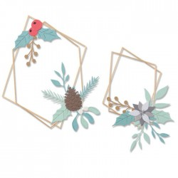 Sizzix - Fustella Thinlits - Geometric Winter Frame by Olivia Rose