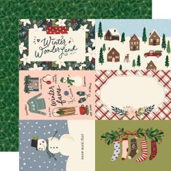"Simple Stories - Carta Winter Cottage 12x12"" - 4x6 Elements"