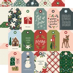 "Simple Stories - Carta Winter Cottage 12x12"" - Tags"