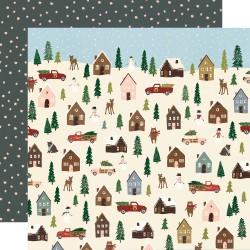 """Simple Stories - Carta Winter Cottage 12x12"""" - Winter Wonderland"""