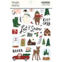 Simple Stories - Sticker Book -Winter Cottage