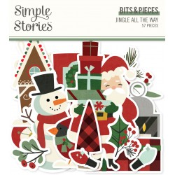 Simple Stories - Ephemera Bits and Pieces - Jingle All the Way