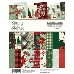 """Simple Stories - Pad Jingle All The Way 6x8"""""""