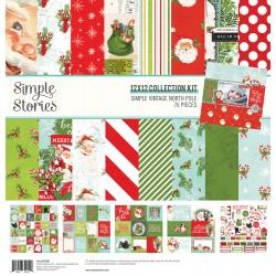 """Simple Stories - Kit Simple Vintage North Pole 12x12"""""""