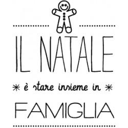 Impronte d'Autore - Timbri Legno - NATALE FAMIGLIA