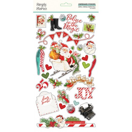 Simple Stories - Chipboard Stickrs - Simple Vintage North Pole