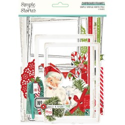Simple Stories - Chipboard Frames - Simple Vintage North Pole