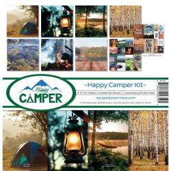 """Reminisce  - Kit Collezione Happy Camper - 12x12"""""""