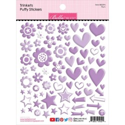Bella Blvd - Puffy Stickers - Plum