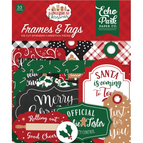 Echo Park - Frames & Tags - A Gingerbread Christmas