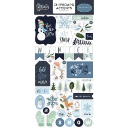 Carta Bella - Chipboard Stickers - Winter Market