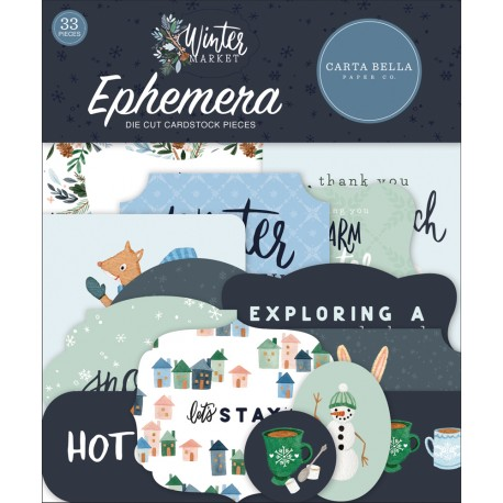 Carta Bella - Ephemera - Winter Market