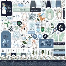 "Carta Bella - Stickers 12x12"" - Winter Market"