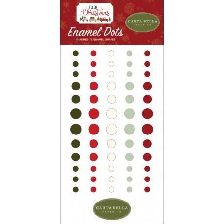 Carta Bella - Enamel Dots - Hello Christmas