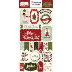 Carta Bella - Chipboard Stickers - Hello Christmas