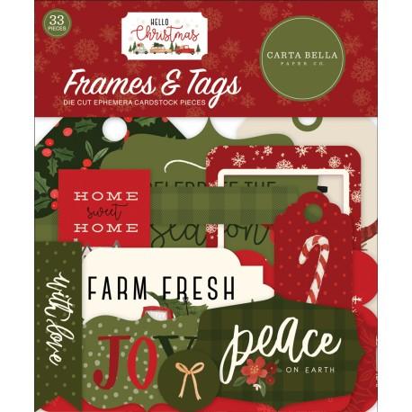 Carta Bella - Frames & Tags - Hello Christmas