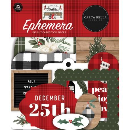 Carta Bella - Ephemera - Farmhouse Christmas