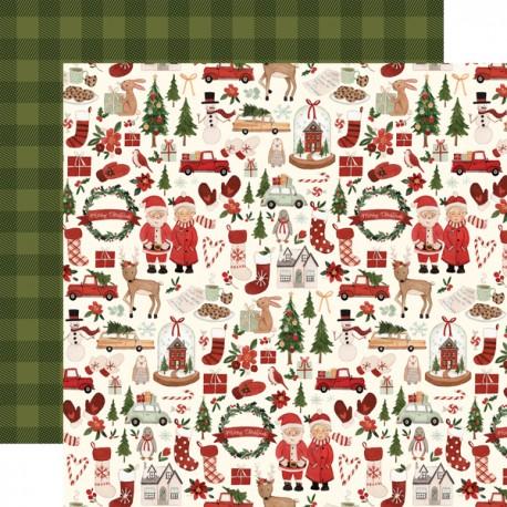 "Carta Bella - Carta 12x12"" - Hello Christmas 02"