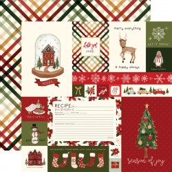 "Carta Bella - Carta 12x12"" - Hello Christmas 03"