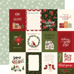 "Carta Bella - Carta 12x12"" - Hello Christmas 08"