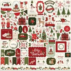 "Carta Bella - Stickers 12x12"" - Hello Christmas"