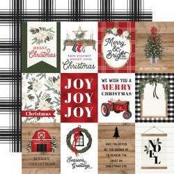 "Carta Bella - Carta 12x12"" - Farmhouse Christmas 03"