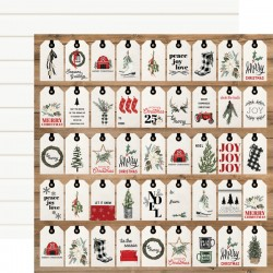 "Carta Bella - Carta 12x12"" - Farmhouse Christmas 04"