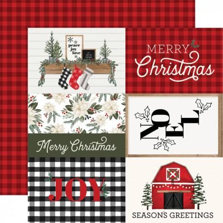 "Carta Bella - Carta 12x12"" - Farmhouse Christmas 08"