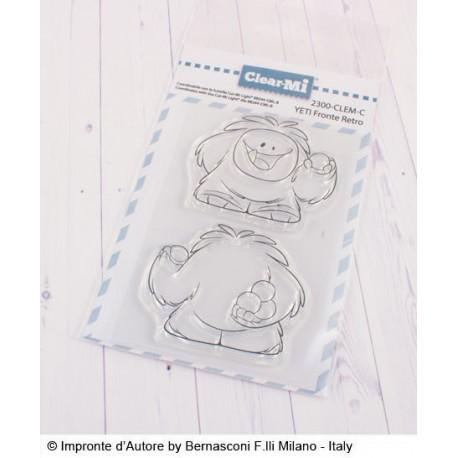 Impronte D'Autore - Timbro Clear - Yeti Fronte Retro