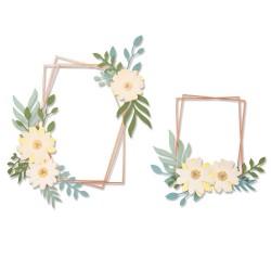 Sizzix - Fustella Thinlits - Geo Floral Frame