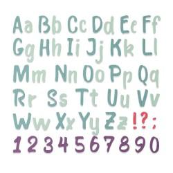 Sizzix - Fustella Thinlits - Brush Alphabet