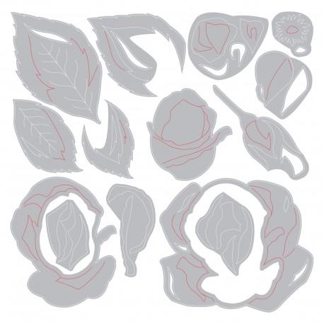 Sizzix - Fustella Thinlits - Layered Rose