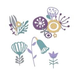 Sizzix - Fustella Thinlits - Folk Florals