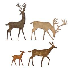 Sizzix - Fustella Thinlits - Darling Deer by Tim Holtz