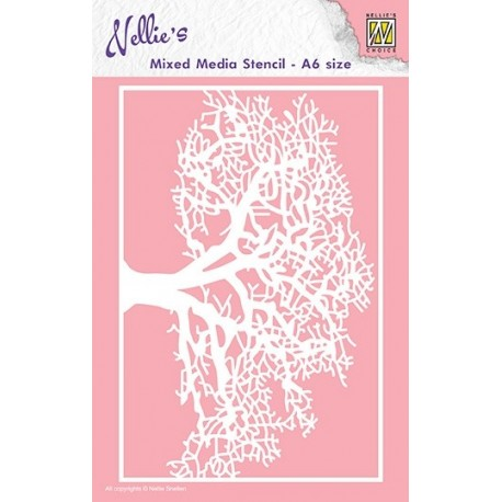 Nellie Snellen - Stencil - Tree