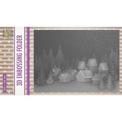 Nellie Snellen - Embossing Folder - Snowy village